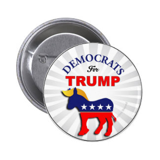 DEMOCRATS for TRUMP TRUMPOCRATS Switch Parties DEM Button