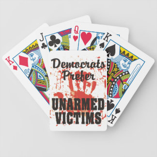 Democrats Prefer UNARMED VICTIMS Playing Cards