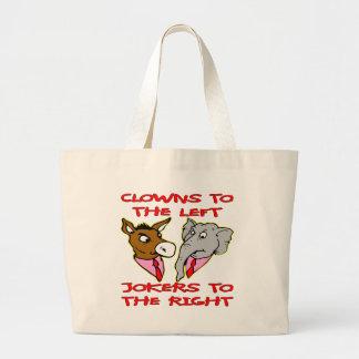 Democrats Republicans Clowns To The Left Jokers To Canvas Bag
