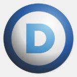 Democrats Round Sticker