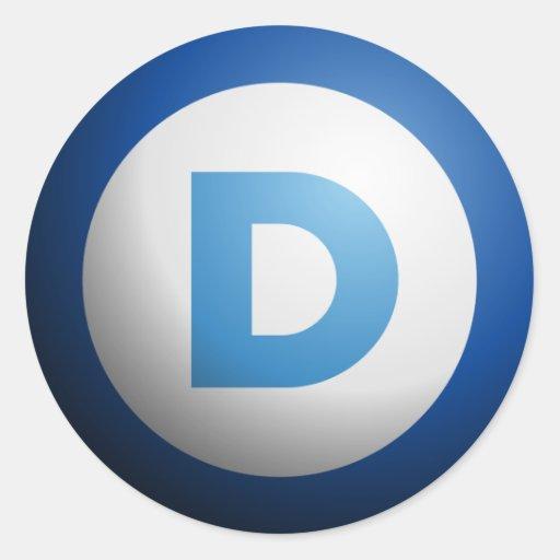 Democrats Round Stickers