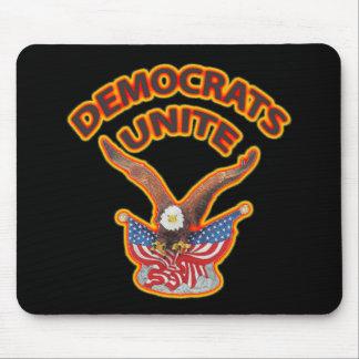 Democrats Unite flame Mouse Pad