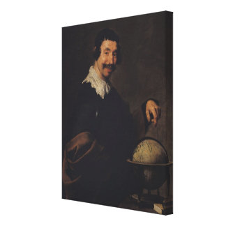 Democritus, or The Man with a Globe Canvas Print