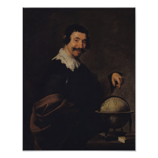 Democritus, or The Man with a Globe Print
