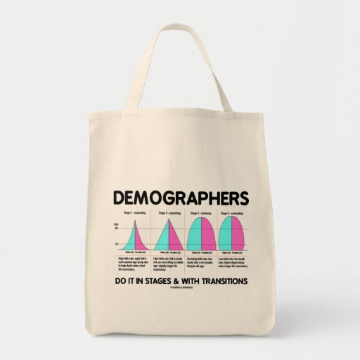 Demographers Do It In Stages & With Transitions Canvas Bags