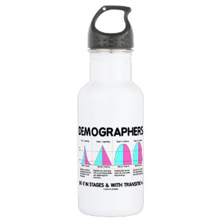 Demographers Do It In Stages & With Transitions Stainless Steel Water Bottle