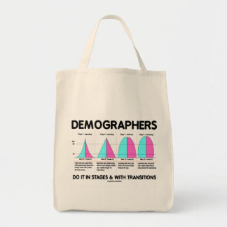 Demographers Do It In Stages & With Transitions Tote Bag