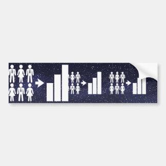 Demographics Pictograph Car Bumper Sticker