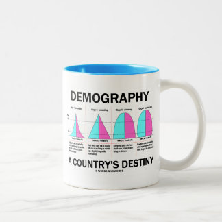 Demography A Country's Destiny (Four Stages) Two-Tone Coffee Mug