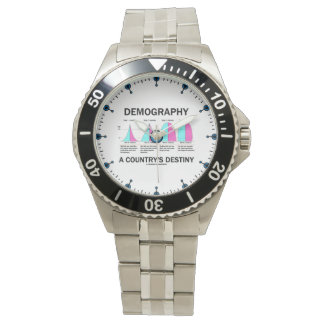 Demography A Country's Destiny Four Stages Wrist Watch