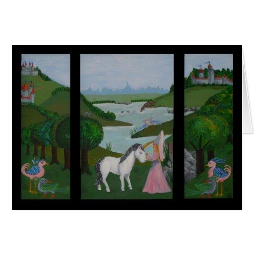 Demoiselle del La y tarjeta de Le Licorne Todo-Oca
