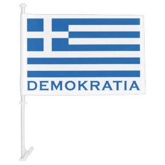 Demokratia Car Flag