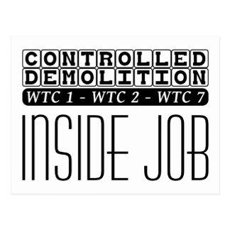 Demolición controlada WTC que construye el trabajo Tarjetas Postales