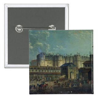 Demolición del Bastille en 1789 Pin Cuadrado