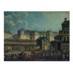 Demolición del Bastille en 1789 Postal