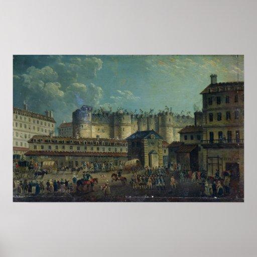 Demolición del Bastille en 1789 Póster