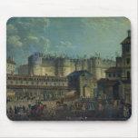 Demolición del Bastille en 1789 Tapetes De Ratones