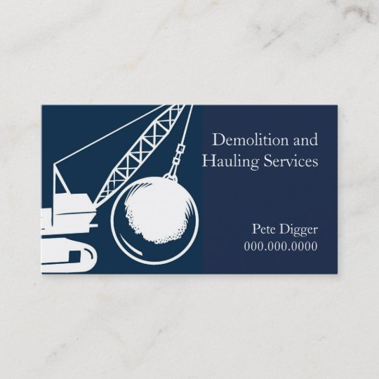 Demolition and hauling service construction business card zazzle demolition and hauling service construction business card colourmoves