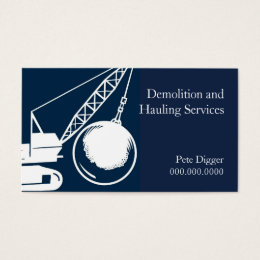 Demolition business cards templates zazzle demolition and hauling service construction business card colourmoves