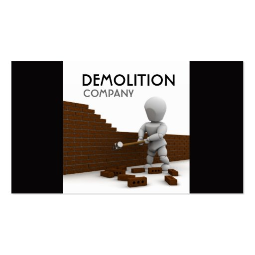 Demolition business card templates bizcardstudio demolition business card colourmoves