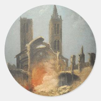 Démolition de l'église Saint-Jean-en-Grève - Musée Classic Round Sticker