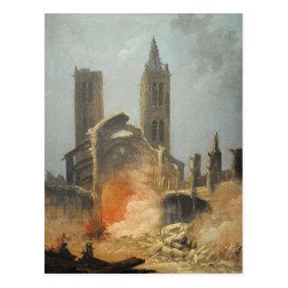 Démolition de l'église Saint-Jean-en-Grève - Musée Postcard