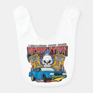 Demolition Derby Baby Bib