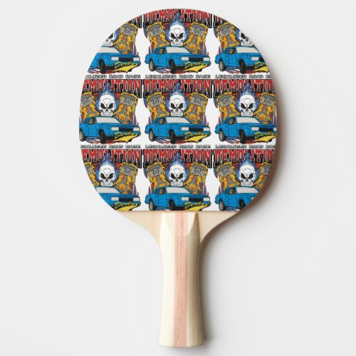 Demolition Derby Ping-Pong Paddle