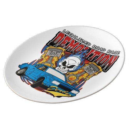 Demolition Derby Porcelain Plate