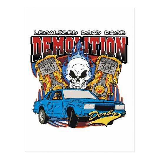 Demolition Derby Postcard