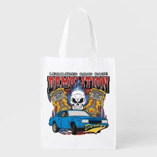 Demolition Derby Reusable Grocery Bag