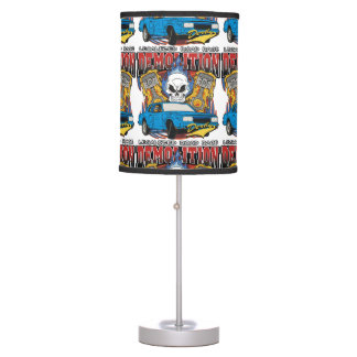 Demolition Derby Table Lamp