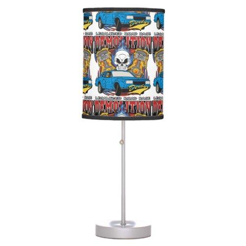 Demolition Derby Table Lamp