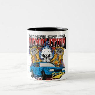 Demolition Derby Two-Tone Coffee Mug