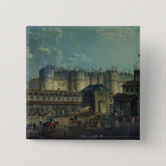 Demolition of the Bastille in 1789 Button