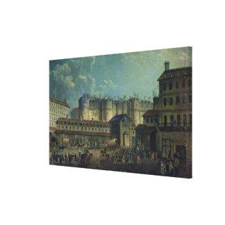 Demolition of the Bastille in 1789 Canvas Print