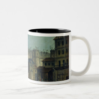 Demolition of the Bastille in 1789 Two-Tone Coffee Mug