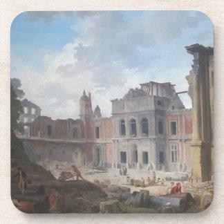 Demolition of the Château of Meudon Hubert Robert Beverage Coaster