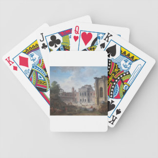 Demolition of the Château of Meudon Hubert Robert Bicycle Playing Cards