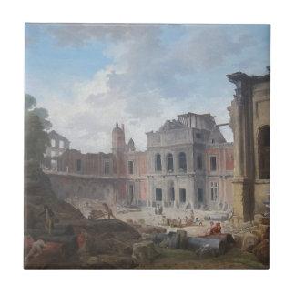 Demolition of the Château of Meudon Hubert Robert Ceramic Tile