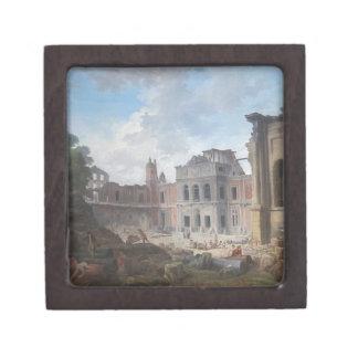 Demolition of the Château of Meudon Hubert Robert Jewelry Box