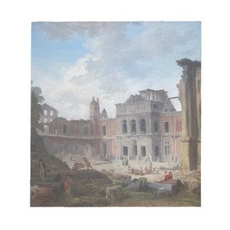 Demolition of the Château of Meudon Hubert Robert Notepad