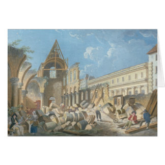 Demolition of the Couvent des Cordeliers, c.1802 Card