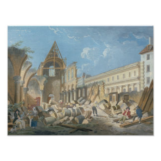 Demolition of the Couvent des Cordeliers, c.1802 Poster