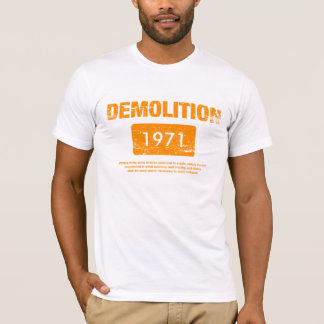 Demolition Orange Grunge T-Shirt