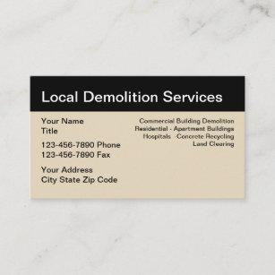 Demolition business cards zazzle demolition services simple design business card colourmoves
