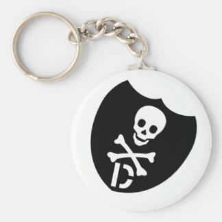 Demolition Skull D Keychain