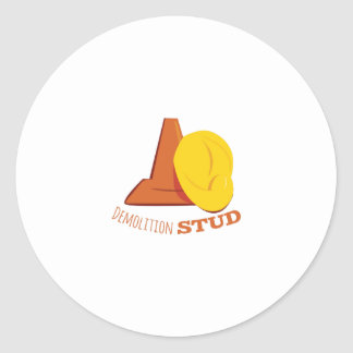 Demolition Stud Round Sticker