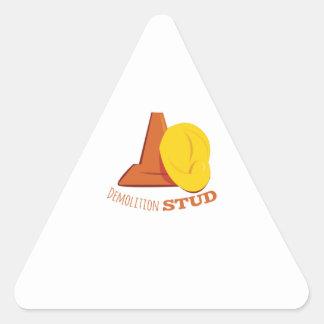 Demolition Stud Triangle Sticker