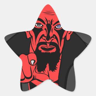 demon-16104 pegatina en forma de estrella